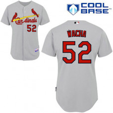 St. Louis Cardinals #52 Michael Wacha Authentic Grey Away Cool Base Jersey