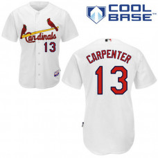 St. Louis Cardinals #13 Matt Carpenter Authentic White Home Cool Base Jersey