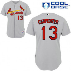 St. Louis Cardinals #13 Matt Carpenter Authentic Grey Away Cool Base Jersey