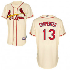 St. Louis Cardinals #13 Matt Carpenter Authentic Cream Alternate Cool Base Jersey