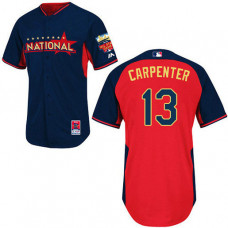 St. Louis Cardinals #13 Matt Carpenter Authentic Navy/Red National League 2014 All Star BPJersey