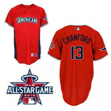 Tampa Bay Rays #13 Carl Crawford American League 2010 All Star BP Red Jersey
