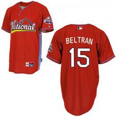 New York Mets #15 Carlos Beltran 2009 All Star Red Jersey