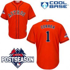 Houston Astros #1 Carlos Correa Red Cool Base Alternate Jersey