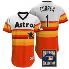 Carlos Correa #1 Houston Astros Multi Throwback Turn Back The Clock Jersey