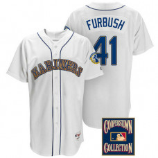 Charlie Furbush #41 Seattle Mariners White Throwback Griffey Retirement Patch Jersey