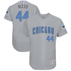 Anthony Rizzo #44 Chicago Cubs 2017 Father's Day Grey Flex Base Jersey