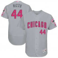 Anthony Rizzo #44 Chicago Cubs 2017 Mother's Day Grey Flex Base Jersey