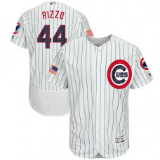 Anthony Rizzo #44 Chicago Cubs 2017 Stars & Stripes Independence Day White Flex Base Jersey