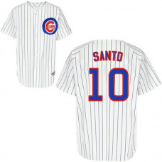 Chicago Cubs #10 Ron Santo White Home Jersey
