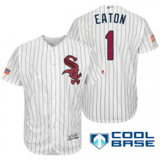 Chicago White Sox #1 Adam Eaton White Stars & Stripes 2016 Independence Day Cool Base Jersey