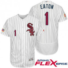 Chicago White Sox #1 Adam Eaton White Stars & Stripes 2016 Independence Day Flex Base Jersey