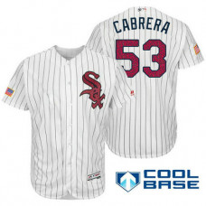 Chicago White Sox #53 Melky Cabrera White Stars & Stripes 2016 Independence Day Cool Base Jersey