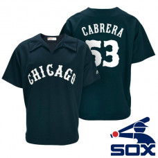 Chicago White Sox Melky Cabrera #53 Navy Turn Back the Clock Throwback Player Jersey