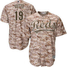 Cincinnati Reds #19 Joey Votto Camo Cool Base Jersey
