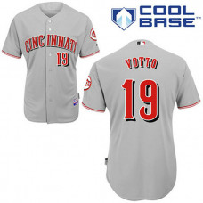 Cincinnati Reds #19 Joey Votto Grey Cool Base Jersey