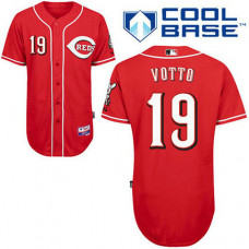 Cincinnati Reds #19 Joey Votto Red Cool Base Jersey