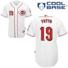 Cincinnati Reds #19 Joey Votto White Cool Base Jersey