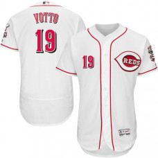 Cincinnati Reds #19 Joey Votto White Flexbase Authentic Collection Jersey