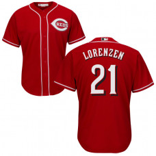 Cincinnati Reds #21 Michael Lorenzen Red Cool Base Jersey