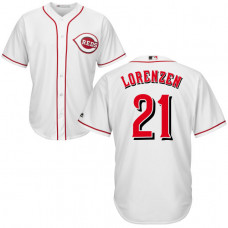 Cincinnati Reds #21 Michael Lorenzen White Cool Base Jersey