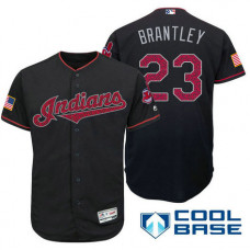 Cleveland Indians #23 Michael Brantley Navy Stars & Stripes 2016 Independence Day Cool Base Jersey