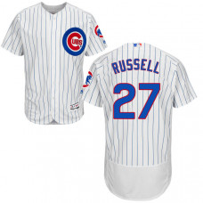 Addison Russell #27 Chicago Cubs White Authentic Collection Flexbase Jersey