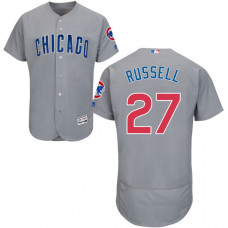 Addison Russell #27 Chicago Cubs Grey Authentic Collection Flexbase Jersey