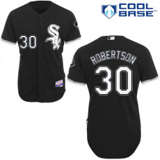 Chicago Black Sox #30 David Robertson Black Jersey