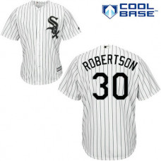 Chicago White Sox #30 David Robertson White Jersey
