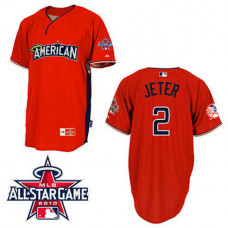 New York Yankees #2 Derek Jeter American League 2010 All Star BP Red Jersey
