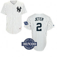 YOUTH New York Yankees #2 Derek JeterSpecial Edition w/3000 Hits Patch White Home Jersey