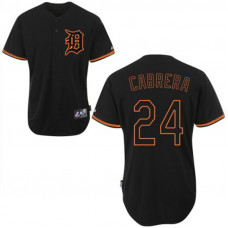 Detroit Tigers #24 Miguel Cabrera Black Fashion Jersey