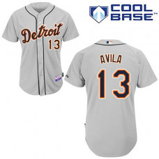Detroit Tigers #13 Alex Avila Grey Away Cool Base Jersey