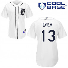 Detroit Tigers #13 Alex Avila White Home Cool Base Jersey