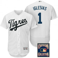 Detroit Tigers #1 Jose Iglesias White Flex Base Hispanic Heritage Player Jersey