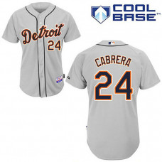 Detroit Tigers #24 Miguel Cabrera Cool Base Grey Jersey