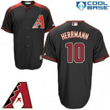 Arizona Diamondbacks #10 Chris Herrmann Black Cool Base Jersey