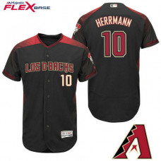 Arizona Diamondbacks #10 Chris Herrmann Black Hispanic Heritage Flex Base Player Jersey