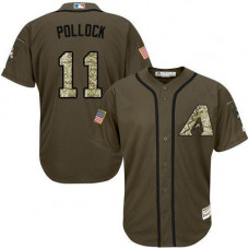 Arizona Diamondbacks #11 A.J. Pollock Olive Camo Jersey