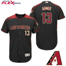 Arizona Diamondbacks #13 Nick Ahmed Black Hispanic Heritage Flex Base Player Jersey