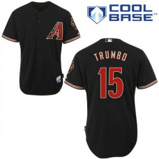 Arizona Diamondbacks #15 Mark Trumbo Authentic Black Alternate Cool Base Jersey