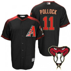 Arizona Diamondbacks #11 A.J. Pollock Black Cool Base Alternate Jersey