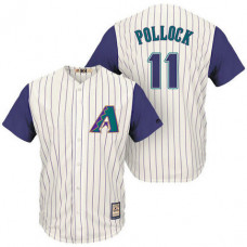 Arizona Diamondbacks #11 A.J. Pollock Cream/Purple Cooperstown Collection Cool Base Jersey