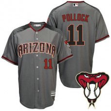 Arizona Diamondbacks #11 A.J. Pollock Grey Cool Base Away Jersey