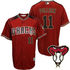 Arizona Diamondbacks #11 A.J. Pollock Red Cool Base Alternate Jersey