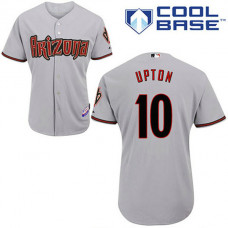 Arizona Diamondbacks #10 Justin Upton Grey Away Cool Base Jersey