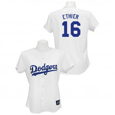 Women - Los Angeles Dodgers #16 Andre Ethier White Lady Fashion Jersey