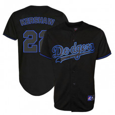 Los Angeles Dodgers #22 Clayton Kershaw Black Fashion Jersey