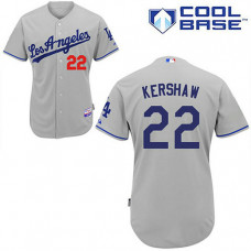 Los Angeles Dodgers #22 Clayton Kershaw Grey Cool Base Jersey